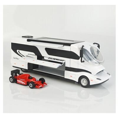 儿童汽车仿真豪华奥地利旅行房车仿真合金模型玩具回力声光女孩男益智玩具礼物