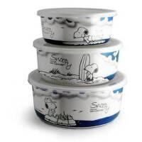 Snoopy 史努比云海三入碗 餐具套装 卡通餐具 SP-C313 仿瓷碗可进洗碗机