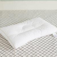 家纺全棉面料U型低枕头矮枕 学生柔软护颈枕芯 云柔大豆枕 一只装