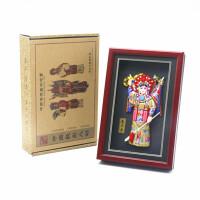 京剧脸谱中国特色工艺品小礼物摆件泥人天津泥人张故宫纪念品泥塑
