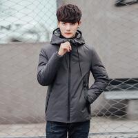 2017新款韩版冬季男士羽绒服短款连帽外套青少年帅气修身百搭冬装