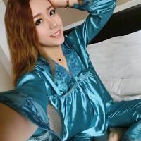 性感诱惑韩版绣花套装女公主短袖两件套情侣长袖睡裙居服
