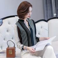 T恤长袖时尚打底衫上衣中年妇女春秋2018新款韩版上衣服小衫衬衣