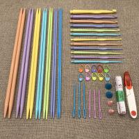 疆藏停发编织工具套装双尖彩虹棒针糖果钩针编织小工具 图片色