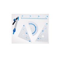 藤井(Raymay)APJ680 学生文具尺类套装 三角板量角器直尺 6件/套当当自营