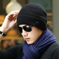 帽子男冬天青年针织护耳加厚保暖户外防寒毛线帽男骑车帽棉帽冬季