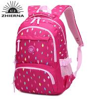 智尔娜 书包中学生女新款时尚休闲双肩包印花尼龙旅行电脑包
