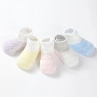 夏季纯棉袜子宝宝初生新生婴儿幼儿夏天松口薄款