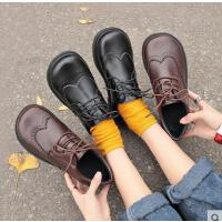 系带大头娃娃鞋女学生韩版百搭ulzzang软妹原宿风复古日系小皮鞋
