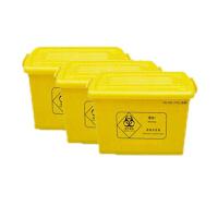黄色医疗废物周转箱 60L 56*41*32cm 收纳整理收集箱 垃圾利器盒