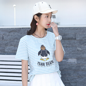 AGECENTRE 2018新款上衣短袖t恤女宽松韩版学生夏季半袖夏装