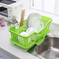 碗盘架塑料厨房沥水碗架碗筷餐具收纳盒碗碟架滴水碗架置物架家用