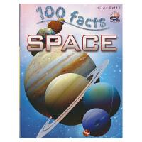 【首页抢券300-100】100 Facts Space 100个事实 太空和星球 儿童英语科普读物 英文原版进口图书