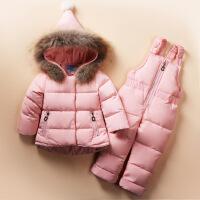 宝宝羽绒服套装女1-3岁冬婴儿童装1一2岁加厚冬装女童反季潮