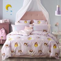 多喜爱家纺新品纯棉四件套全棉床品卡通床上三件套樱桃小丸子白日梦