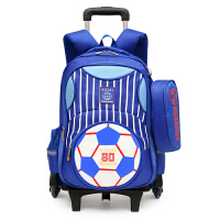 儿童拉杆书包 男童时尚运动足球书包2020年新款小学生透气防水减负可拆卸儿童双肩包