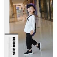 童鞋男童鞋子秋季透气春秋款跑步鞋飞织儿童运动鞋