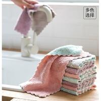 擦地抹布家务清洁吸水加厚不沾油洗碗巾厨房洗碗布5条装T