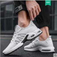 新款运动休闲跑步白鞋抖音同款男士潮鞋百搭防臭透气网鞋小白男鞋