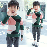 男童毛衣儿童针织衫套头圆领上衣秋装