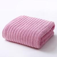 金号A类纯棉大浴巾成人男女情侣舒适全棉家用大毛巾 素色吸水速干
