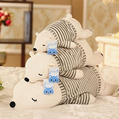 北极熊毛绒玩具公仔趴趴熊睡觉抱枕布娃娃送女孩儿童生日礼物玩偶 穿衣 发货周期:一般在付款后2-90天左右发货,具体发货时间请以与客服协商的时间为准