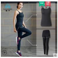 健身房运动套装女背心专业跑步瑜伽服女紧身速干运动衣初学者性感