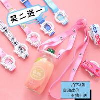 日本芝麻街�料瓶便�y背�УV泉水瓶背�K水瓶卡扣水瓶扣�炖K背水��