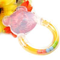日康小熊牙胶 食品级硅胶 摇铃牙胶 6个月以上婴儿牙咬器(颜色随机)