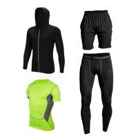 健身房运动服男跑步秋冬季外套速干衣紧身裤套装瑜伽篮球服 X