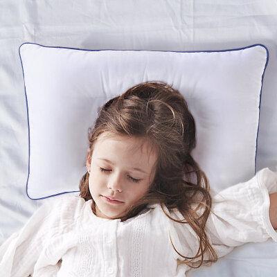 【返场狂欢 1件3折】水星家纺学生儿童全棉枕头枕芯 包邮 全棉抗菌面料 十孔纤维填充