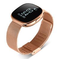 智能运动手环心率血压监测睡眠oppo三星vivo男女计步器多功能手表 金色钢带