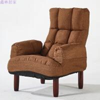 创意懒人沙发单人布艺休闲榻榻米电视电脑椅午休孕妇喂奶椅老人椅
