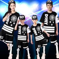 学生爵士舞演出服嘻哈舞蹈儿童表演服假三件表演装