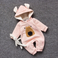 女婴儿连体衣服秋冬季0岁7个月男宝宝4冬装靓仔衣服新生儿外出服