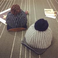 儿童鸭舌帽冬天宝宝帽子1-2岁秋季男女保暖婴儿帽子6--24个月潮