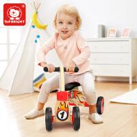 特宝儿 宝宝摇椅马木制两用摇摇马儿童玩具1-2周岁礼物小木马车玩具