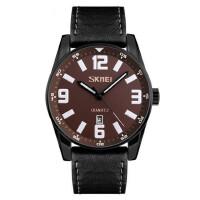 男士大表盘石英手表防水简约商务男表时尚个性皮带指针腕表