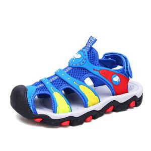 史努比童鞋男童凉鞋包头儿童沙滩凉鞋透气宝宝运动凉鞋