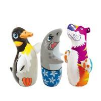 INTEX动物不倒翁 儿童充气玩具 拳击袋 沙底 3D益智