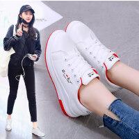 韩版百搭学生厚底女鞋休闲运动潮鞋内增高小白鞋女