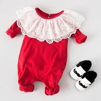 女婴儿连体衣服男宝宝0新生儿3个月1秋冬季套装6春秋装婴幼儿秋季