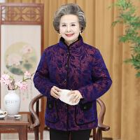 60岁中老年人冬装女棉衣加绒加厚70老人奶奶外套80老太太冬季棉袄