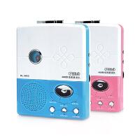 七夕礼物 RL-903复读机 磁带机录音机随身听学生英语磁带充电 蓝色+电池+录音磁带
