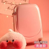 行李箱女皮箱拉杆箱韩版小清新万向轮密码旅行箱可爱大学生个性小 粉红色 笑脸亮面款