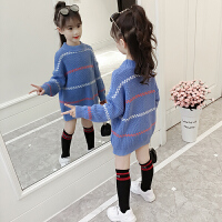 2018秋冬新款儿童毛衣套头中长款针织打底衫大童装女孩