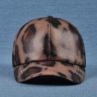 羊皮帽子鸭舌帽遮阳帽帽子女士棒球帽真皮帽子