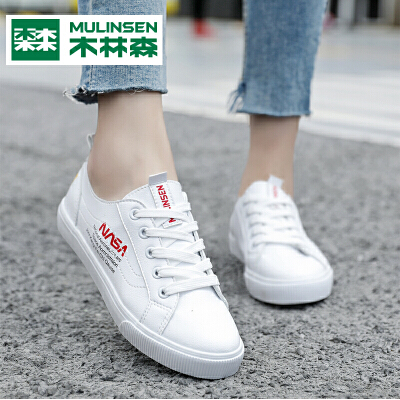 木林森女鞋秋季小白鞋子女2019新款韩版休闲百搭学生板鞋女潮鞋子