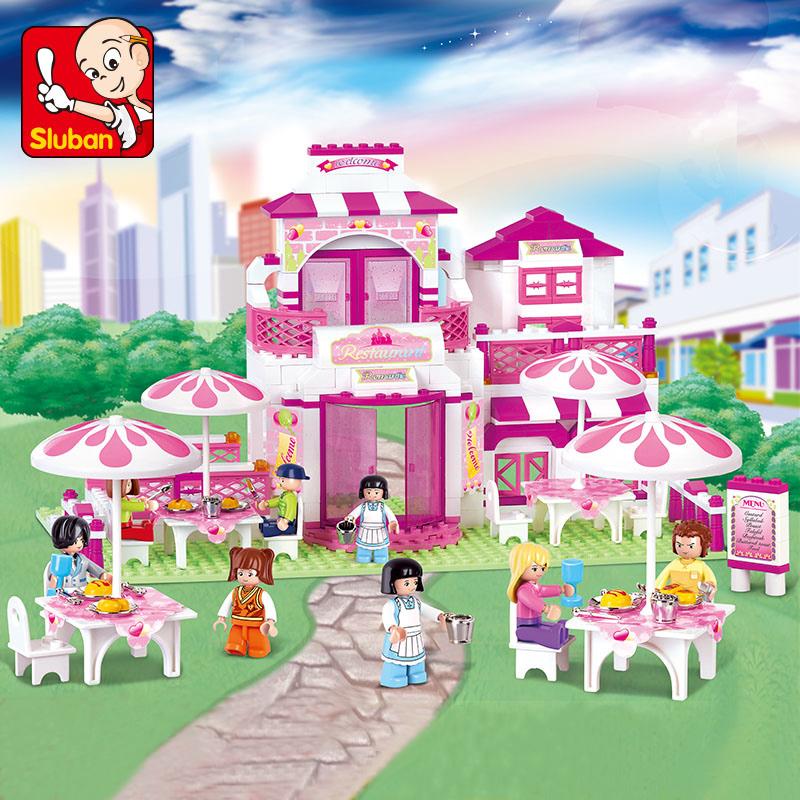积木城堡别墅小鲁班拼装女孩城市58力7儿童9玩具3-4-5-6周岁