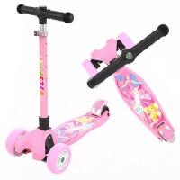滑板车儿童滑滑车溜溜车3-6-14岁小孩2三四轮折叠闪光单脚踏板车